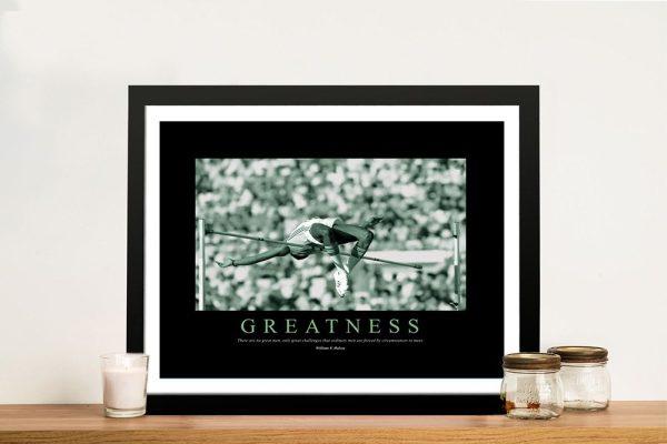 Framed Greatness Inspiring Office Decor