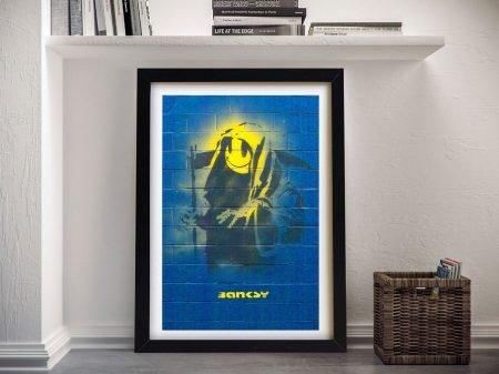 Grin Reaper Banksy Framed Print