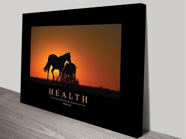 Health Artwork Inspiring Canvas Prints AU