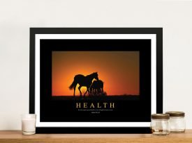 Health Framed Motivational Art