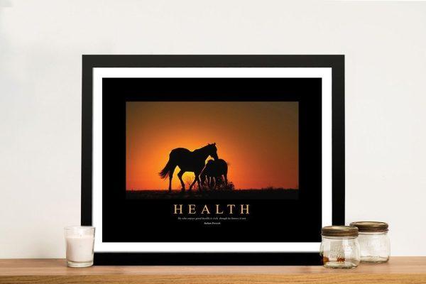 Health Framed Motivational Art