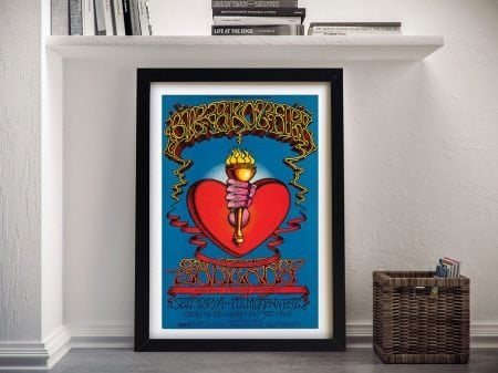 Buy a Heart & Torch Framed Gig Poster Print