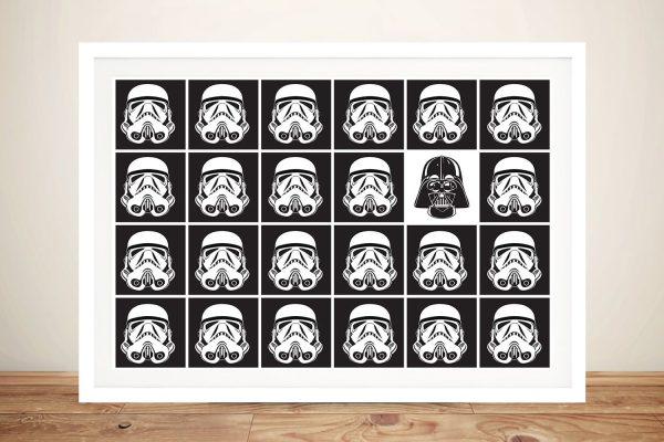 Buy Black And White Helmets Star Wars Art