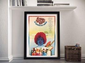 Framed Hendrix Newport 69 Poster