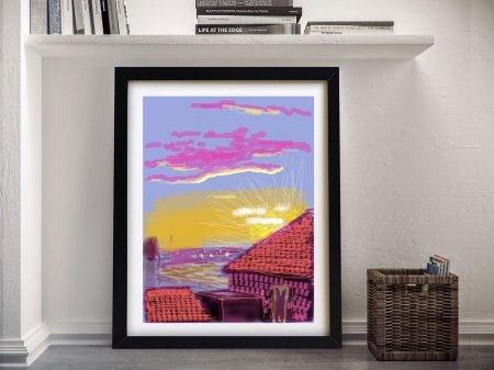 Buy Hockney fresh flowers Framed Print