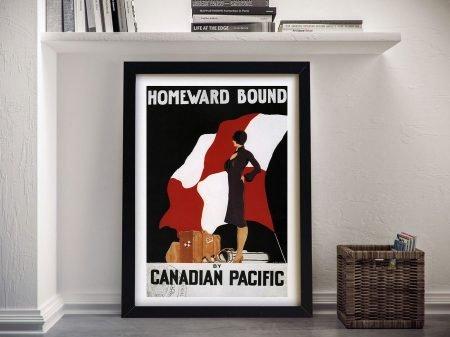 Homeward Bound Vintage Poster Framed Wall Art