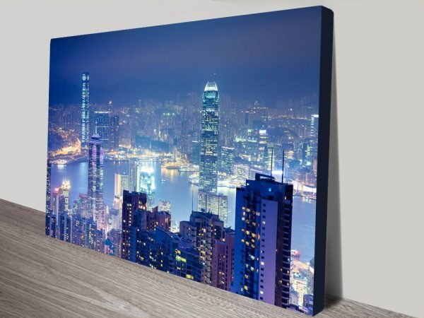 Hong Kong Skyline Stretched Canvas Print