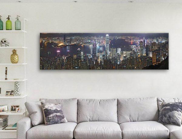 Buy Hong Kong Skyline Panoramic Art Cheap AU