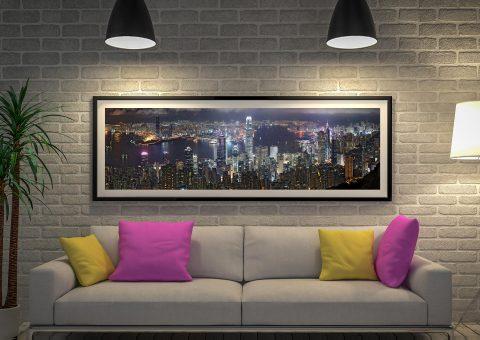 Buy Hong Kong Skyline Panoramic Wall Art