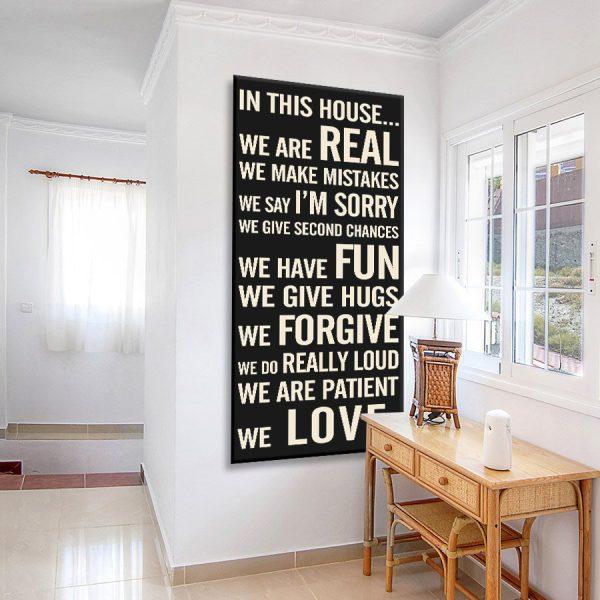 House Rules Canvas Artwork
