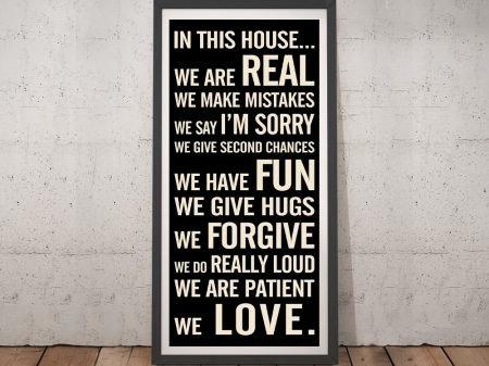 House Rules tram Framed Wall Art