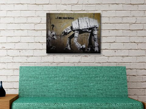 Buy Banksy Star Wars Canvas Art Great Gifts for Him