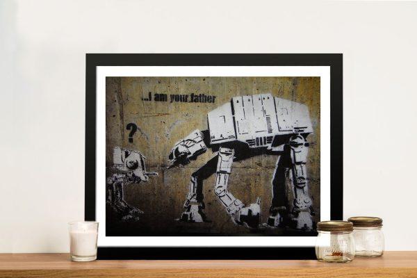 Banksy Star Wars Framed Wall Art Print & Poster Pictures Australia