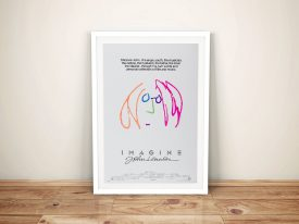 Imagine John Lennon Movie Poster Framed Wall Art