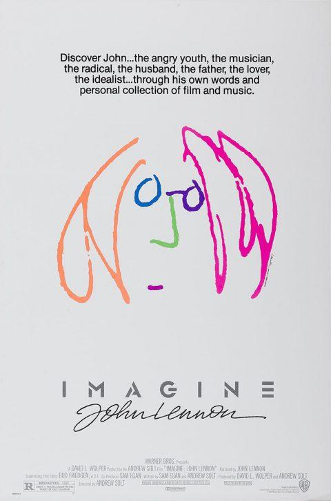 John Lennon Imagine Vintage Movie Poster Print on Canvas Australia