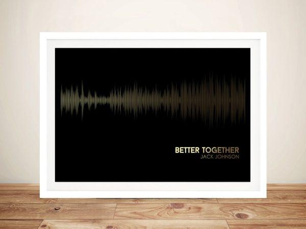 Jack Johnson Better Together Soundwave Wall Art