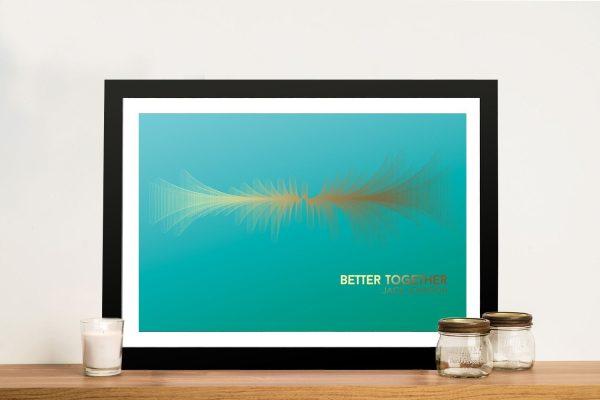 Jack Johnson Waveform Art