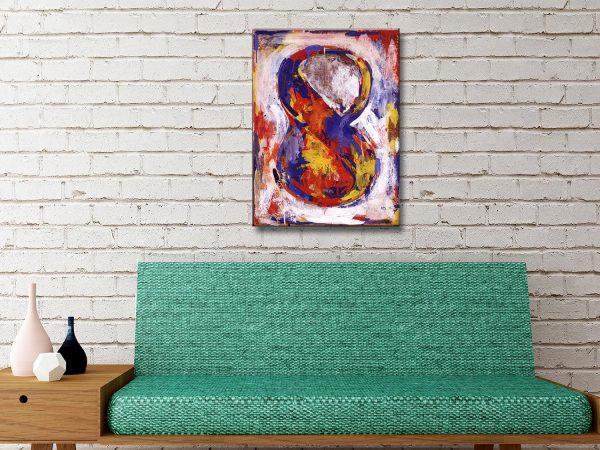 Jasper Johns Figure 8 Canvas Artwork Online