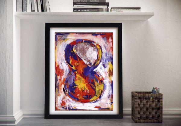 Jasper Johns Figure 8 Framed Wall Art Print