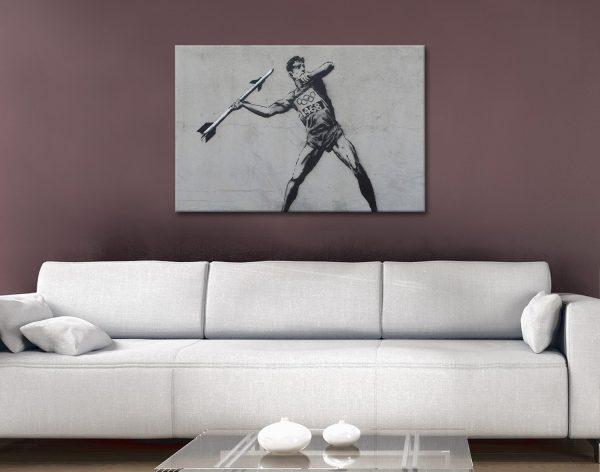 Javelin Thrower Banksy Art Quality Prints AU