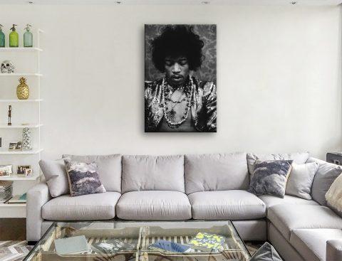 Jimi Hendrix canvas wall prints
