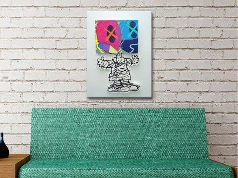 KAWS Mans Best Friend Canvas Artwork