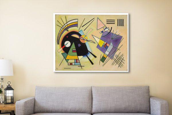 Kandinsky Black and Violet Canvas Art Print