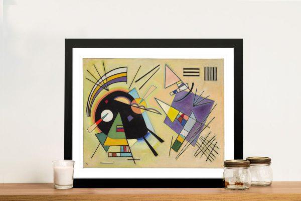 Kandinsky Black and Violet Wall Art Prints
