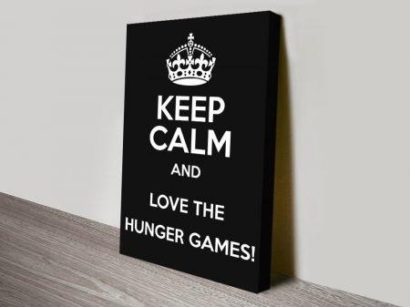 Keep Calm Love the Hunger Games Kids Art