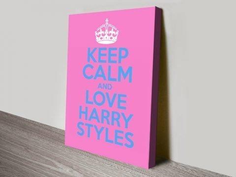 Keep Calm & Love Harry Styles Wall Art