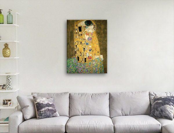 Klimt The Kiss Canvas Art