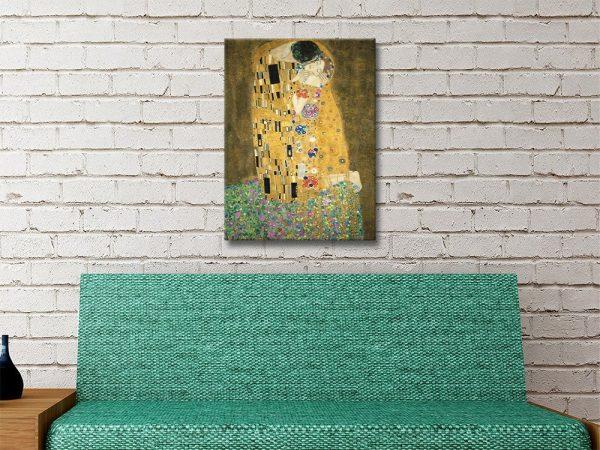 The Kiss Gustav Klimt Art Australia