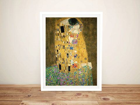 The Kiss by Gustav Klimt Framed Wall Art Prints