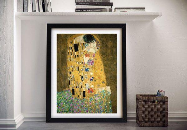 Gustav Klimt The Kiss Framed Art