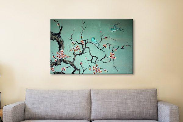 Korean Traditional Painting Canvas Artwork