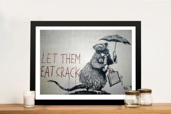 Let them eat crack Banksy Framed Wall Artwork