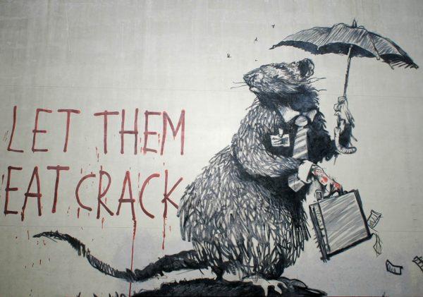 Let Them Eat Crack Banksy Stretched Prints