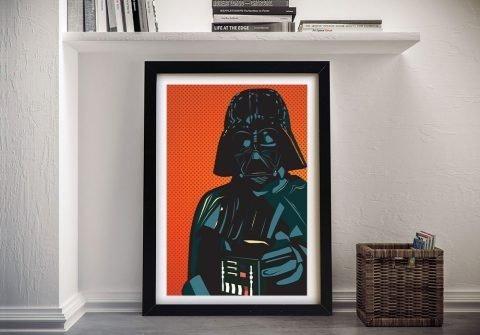 Framed Darth Vader Pop Art Cheap Online