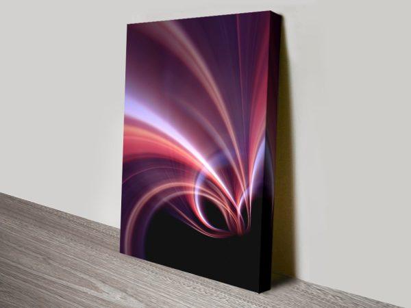 Abstract Light Falls Canvas Wall Art