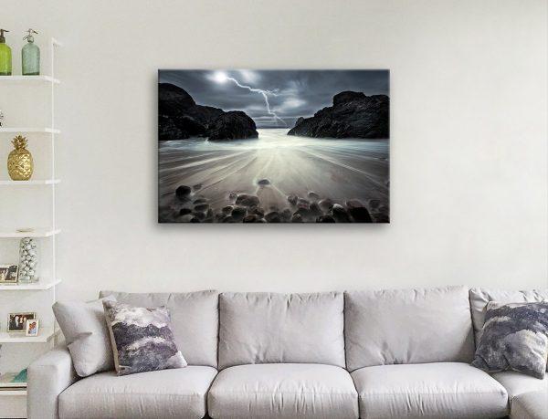 Lightning Strikes Stretched Canvas Print