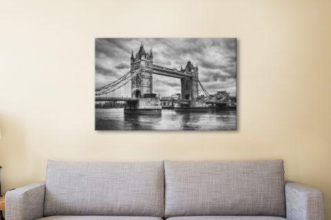 London Bridge black and white Canvas Print