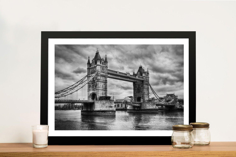 London Bridge black and white Framed Print