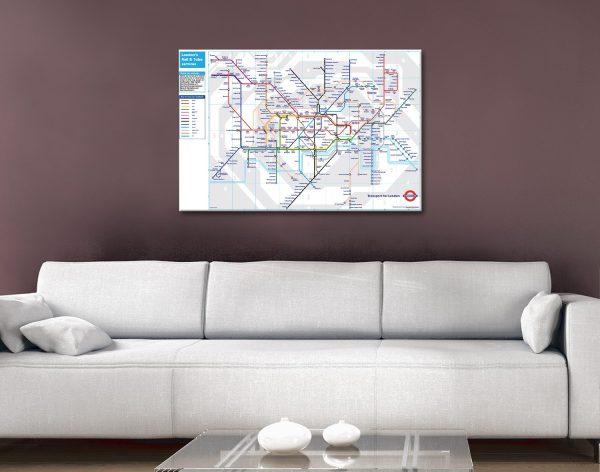 London Tube Map Canvas Artwork