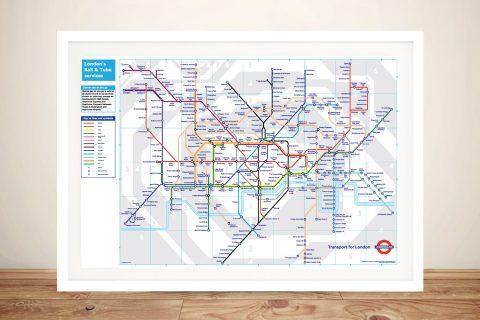 London Tube Map Framed Wall Art