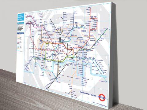 london underground tube map wall art