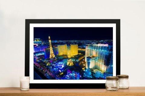 Las Vegas at Night Ready to Hang Art AU