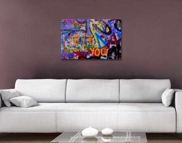 Love is You Graffiti Art Great Gift Ideas AU