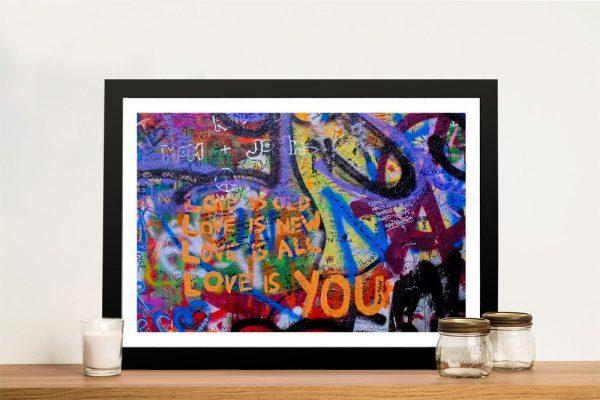 Love is You Framed Street Art Cheap Online