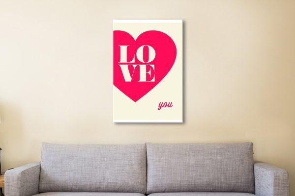 Buy Ready to Hang Romantic Wall Art AU