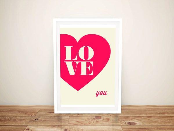 Buy Romantic Typographic Framed Wall Art